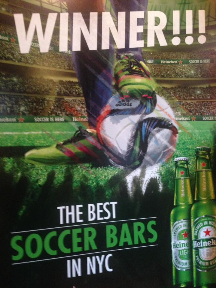 "Voted ""Best Soccer Bar NYC"""